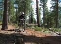 mountain biking Lloyd\'s Loop at Prosser Lake
