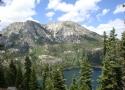Rubicon Peak on right and Jake\'s Peak on left